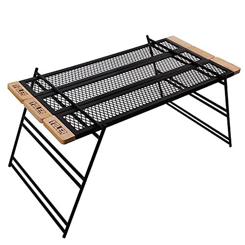 ヨーラー(YOLER) マルチアイアンテーブル 囲炉裏テーブル 焚き火テーブル キャンプ調理台・ラック 幅90cm 変形自在 専用バッグ付き MT090