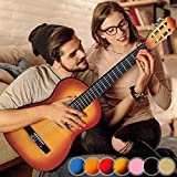 Classical Acoustic Guitar for children and Adults - 4/4 Full Size 6 Strings, Choice of Colour - Beginners Guitar, Classical String Guitar