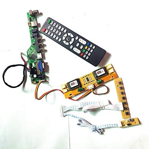 QD17EL07 Rev.09/11/12 TV53 Controller Board VGA HDMI AV USB RF LCD Display 4CCFL 30Pin LVDS Fernbedienung + Inverter + Tastatur DIY Kit (QD17EL07 Rev.11)