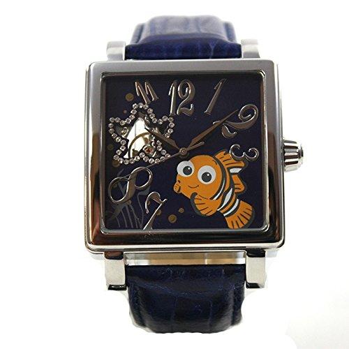 Disney Montre Homme Montre Automatique Bracelet en Cuir Nemo römisch strass Cartoon horloge