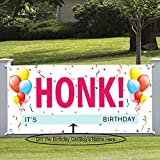 Honk Its My Birthday Banner DIY, Large Quarantine Birthday Banner, Fabric Bday Party Poster Decoration, Photo Booth Yard Sign Outdoor (6.07 X 3.61 feet)