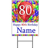 80TH Customized Balloon Blast Yard Sign (Each)