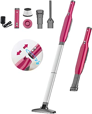 Lightweight Stick Vacuum Cleaner for Home Car Pet Hair Portable Cordless Vacuum Cleaner EVERTOP 16Kpa Super Suction 5 in 1 Handheld Floor Cleaner with Detachable LED Light