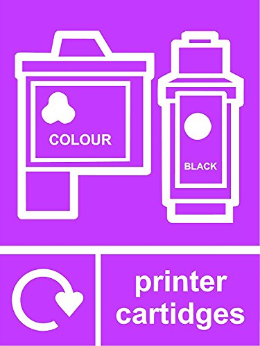 Recyclingbord - Printer Cartridges - Vinyl/Sticker - Grootte: Breedte: 150mm (6