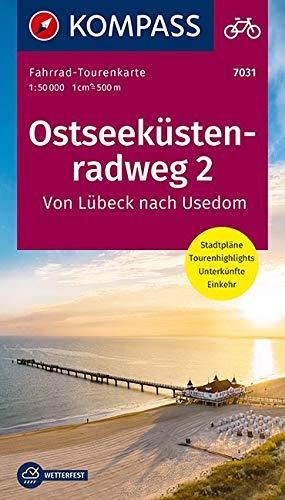 Fahrrad-Tourenkarte Ostseeküstenradweg 2, von Lübeck nach Usedom: Fahrrad-Tourenkarte. GPS-genau. 1:50000. (KOMPASS-Fahrrad-Tourenkarten, Band 7031)