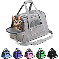 "AIRLINE APPROVED PET CARRIER- ACCEPTED as a SOUTHWEST Airlines Pet Carrier, AMERICAN Airlines Pet Carrier, JETBLUE Pet Carrier, DELTA Pet Carrier Plus VIRGIN, ALASKA, FRONTIER, ALLEGIANT, UNITED & MORE. Carrier measures 17.2""L x 10""W x 11""H. DESIGNED..."