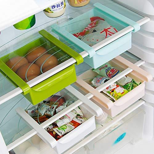 Multifunctionele Koelkast Lade Koelkast Opbergdoos Rek Houder Slide Koelkast Organizer Keuken Accessoire 15.5cm x 16.5cm x 7cm Kleur: wit