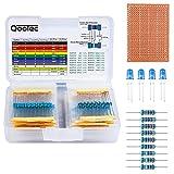 Kit Resistore 525 Pezzi, Assortimento di 17 Valori 0 Ohm-1M Ohm 1% Compatibile con Arduino e Raspberry, Progetti Breadboard