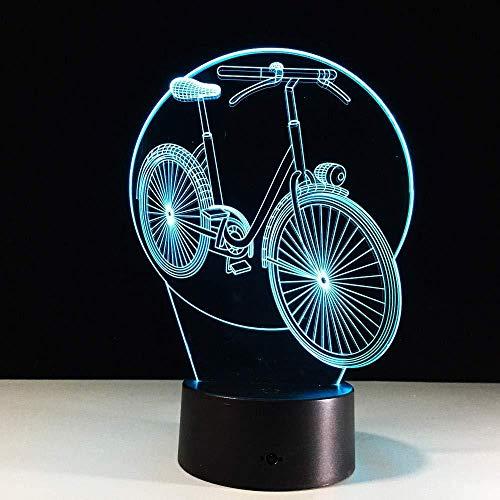 ool 3d fahrrad schreibtischlampe led nachtlicht fahrrad mit atmosphäre licht 7 farben als geschenk für kindergeburtstag party dropshipping