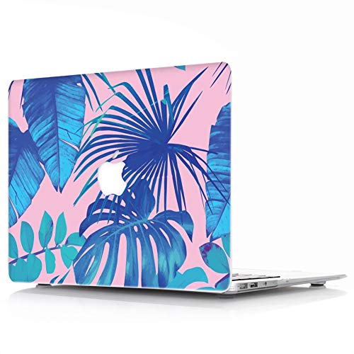 MacBook Air 13 Case Model: A1369/A1466 - L2W Protective Hard Case, Soft Touch Plastic Rubber Coated Shell Cover For Macbook Air 13 - Tropical Palms Leaves 07