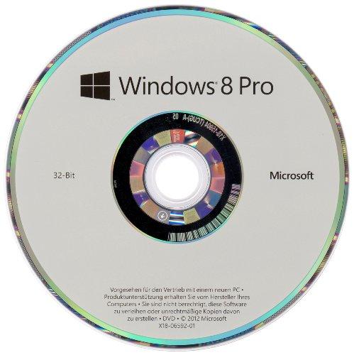 Microsoft Windows 8 Pro - Sistemas operativos (PC, Original Equipment Manufacturer (OEM), Full packaged product (FPP), DEU, DVD)