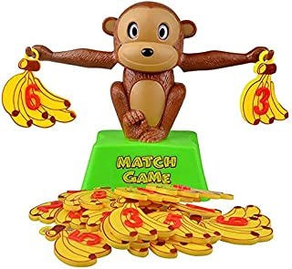 Math Toys - Monkey Digital Balance Scale Toy Early Learning Balance Children Enlightenment Digital Addition and Subtractio...