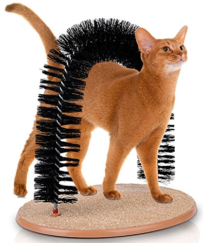 KLEEGER Cat Scratcher And Grooming Arch: Self Groomer And Massager With Catnip: No More Hair Balls...