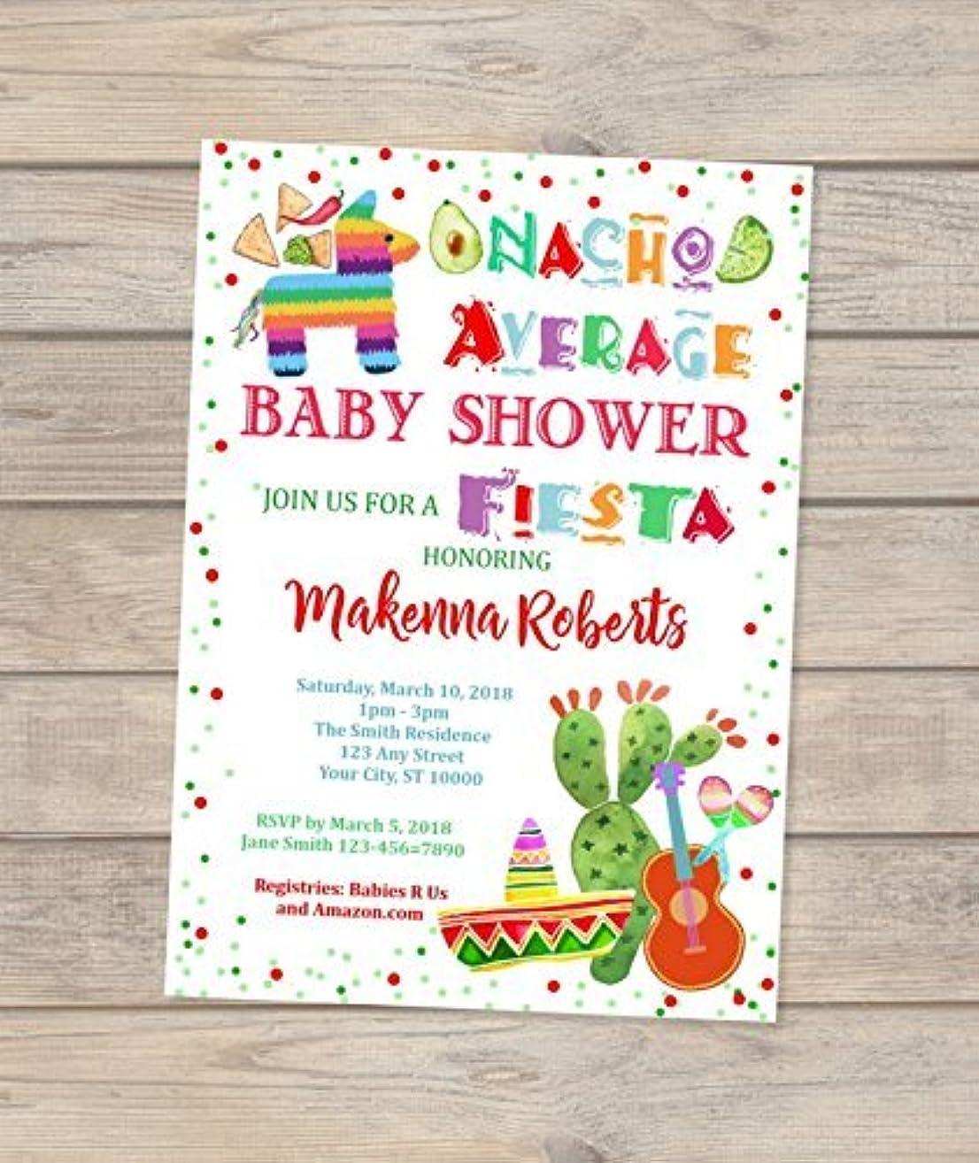 Nacho Average Baby Shower Invitations, Fiesta Baby Shower Invitations, Mexican Theme Baby Shower Invitations, Mexican Hat Shower Invitations, Co-ed Couples Shower Invitation