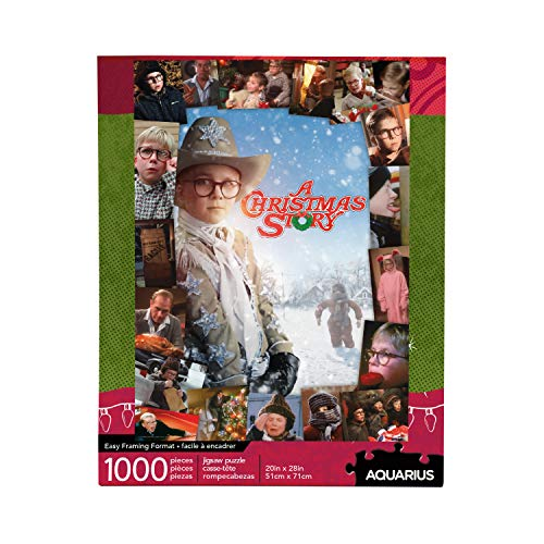 AQUARIUS A Christmas Story Puzzle (1000 Piece Jigsaw Puzzle) - Glare Free - Precision Fit - Virtually No Puzzle Dust - Officially Licensed Merchandise & Collectibles - 20 x 28 Inches