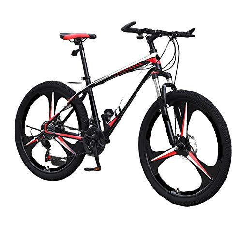 MH-LAMP Mountainbike Fahrrad 26 Zoll, Bike 27 Gang, Mit Gabelfederung, Mountainbike Scheibenbremse, Höhenverstellbar, Vorderradgabel Arretierbar, Schnellspannsitz
