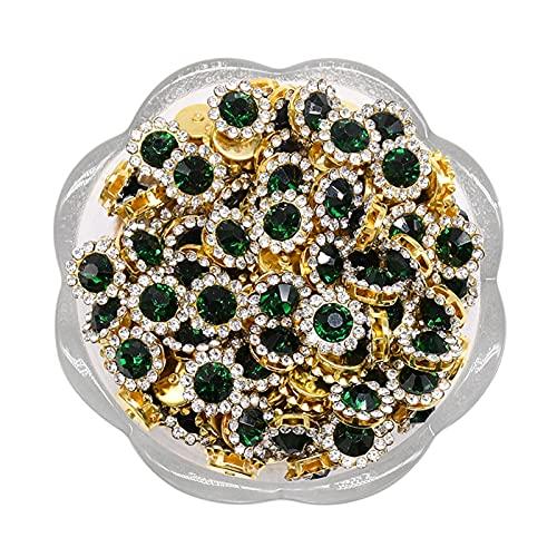 Cadena de copa de diamantes de imitación 20 unids Copa de garra Rhinestones Mix Color Color Relojes Brillantes Piedras de vidrio Recorte Base de oro Non Hot Fix Seal On Rhinestones Crafts para bodas,