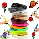 3D Pen / 3D Printer Filament PLA 1.75mm Plastic 328 Linear Feet. Pack of 20 Colors Filaments 16.4 ft Each. Each Color in a Separate Vacuum Sealed Pack for Easy use