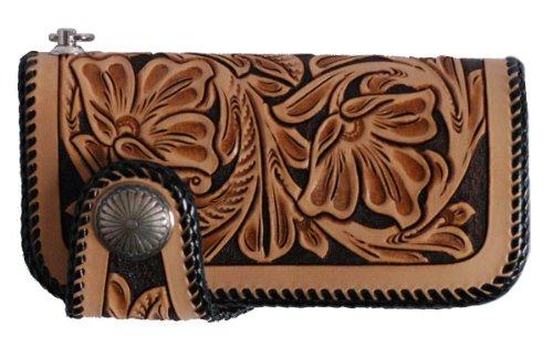 KC,s Leather Craft Craft - Cartera para jinete (hecha a mano en Japón)