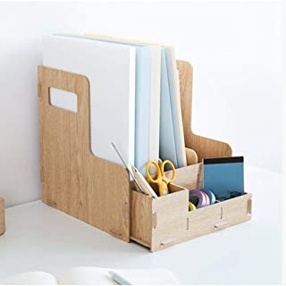 Wooden Desk File Organizer, Creative document holder Letter Tray 6 Layers for Home School Office Use Office Supplies BIAOY...