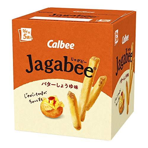 カルビー Jagabee バターしょうゆ味 80g(16g×5袋)×12個