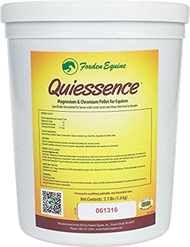 Foxden Equine Quiessence 3.5 lb Banana Flavored Magnesium Pellets Founder Calming Sore Muscle