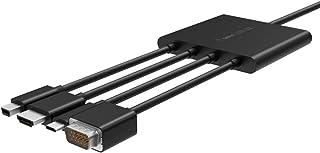 Belkin Multiport to HDMI Digital AV Adapter: Mini DisplayPort, USB-C, HDMI and VGA to HDMI Adapter, B2B166, Black