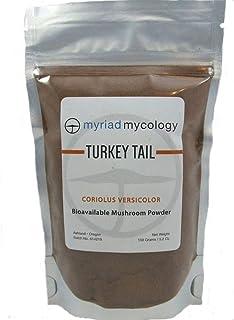 Myriad Mycology Turkey Tail Mushroom Powder 5.2oz or 150g, Made in USA/Yun Zhi