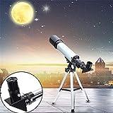 Lukzer 90X Zoom Astronomical Land & Sky Refractor Telescope Optical Glass Metal Tube Tripod Tabletop...