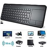 WisFox Kabellose Touchpad Tastatur, Ultraflaches 2.4-G Kabellose Tastatur mit Einfacher...
