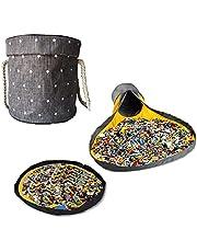おもちゃ 収納 プレイマット 簡単 大容量 子供 ブロック おもちゃ 収納バスケット ふた付き お片付け簡単 折りたたみ式 多用途 お誕生日プレゼント
