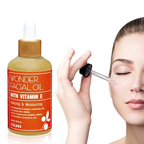 dran Wonder Facial Oil with Vitamine E vegant Pure huile végétale 50 ml