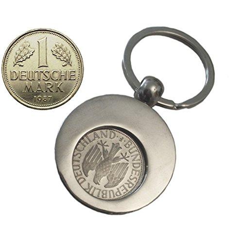 WallaBundu Geschenkidee zum 33. Geburtstag. 1 DM von 1987 im Münzhalter (auch für Einkaufswagen). Echte Münze aus Umlauf und Taschenkalender als Nachdruck. Originell angewandte Nostalgie…