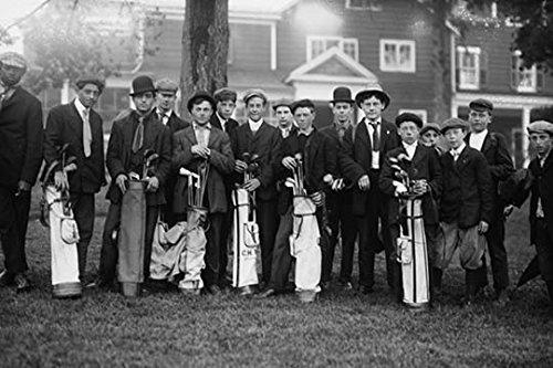 Private Golf Club Caddies at Baltusrol in New Jersey (20x30 Canvas Print)