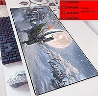 アニメワンピースラージゲーミングマウスパッド耐久性のあるステッチエッジ滑り止めラバーベース15.8x29.5キーボードパッドデスクパッド用デスクパッド、コンピューターキーボード、PC、ラップトップ-Photo_Color_900x400mm