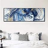 KWzEQ Imprimir en Lienzo Cartel de Pintura Abstracta en imágenes Decorativas para la decoración del hogar de la habitación40x120cmPintura sin Marco
