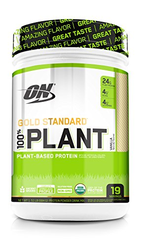 Optimum Nutrition Gold Standard 100% Organic Plant Based Protein Powder, Vitamin C for Immune Support, Vanilla, 1.51 Pound