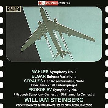 Mahler: Symphony No. 1 - Elgar: Enigma Variations  - Strauss: Der Rosenkavalier Suite (1953-1959)