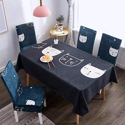 DLSM Adornos navidenos Pano de Mesa Comedor Toallas Juego de Fundas para sillas Hotel Boda Hogar Cocina Banquete Decoracion-27_4 Fundas para sillas
