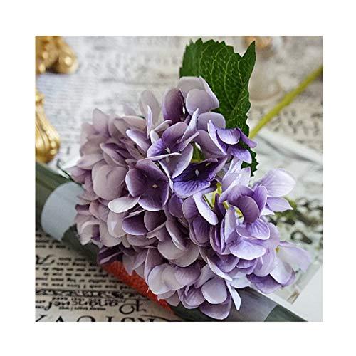 CAIM-Artificial flower Künstliche Blumen billig Silk Hortensie Brautstrauß Hochzeit zu Hause Neujahr Dekoration Zubehör for Vase Blumenschmuck (Color : Purple)