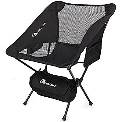 MOON LENCE Outdoor Ultralight Portable Folding Chairs with Carry Bag Heavy Duty 242lbs Capacity Camping Folding Chairs Beach Chairs (Black)