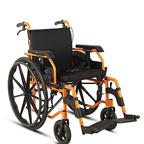 wheelchair Scooter Plegable portátil de Silla de Ruedas Manual de aleación de Aluminio para Ancianos Trolley Adecuado para Ancianos/discapacitados