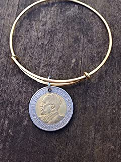 Kenya 20 shillings expandable wire bangle bracelet