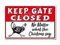 鶏を怒らせないように警告、彼らは本当のペックかもしれない-フープマーク面白さとかわいい8×19」金属スズマーク田舎の家庭農場の台所装飾マーク鶏装飾面白さ嘔吐プレゼント鶏肉愛好家に
