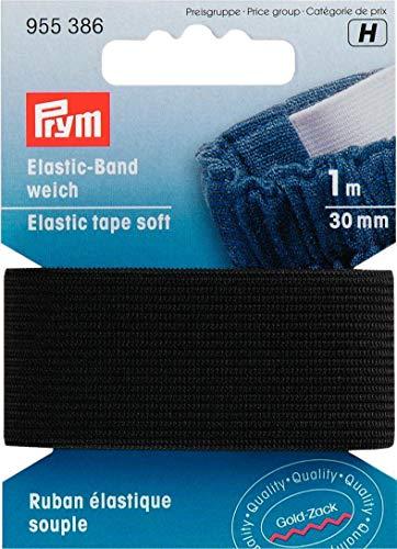 Prym Elastic-Band weich 30 mm schwarz, 57% PES 43% ED