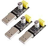 Hailege 3個セット USB ESP8266 CH340シリアルWIFIモジュールWIFIアダプターワイヤレス開発ボードへ