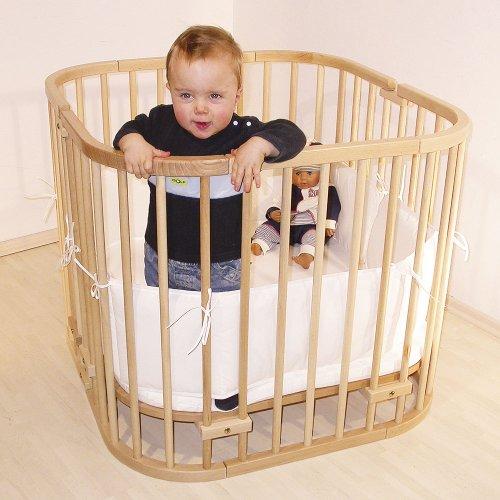 babybay - Beistellbett / Baby-Bettchen  Das Original   In Natur lackiert   54 x 96.5 x 94 cm