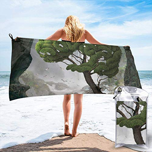YUYUTE Toalla de baño, Tree Brain Artwork Outdoors Microfiber Quick Dry Travel Towel,for Gym,Sports,Thin Lightweight,Shower Towels