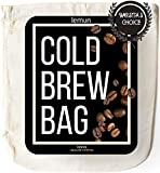 """Cold Brew Coffee Bag - Cold Brew Bags, Organic Cotton - Reusable Cold Brew Coffee Filter, Extra Large 12""""x12', Reusable Filter Bags/Cold Brew Coffee Maker"""