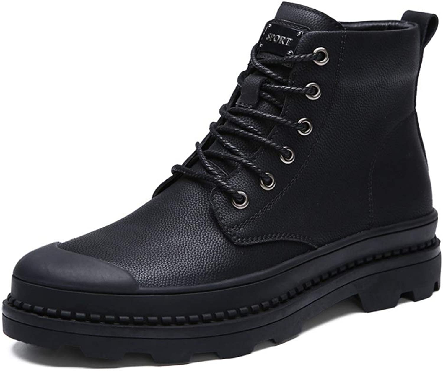 Men'S Boots Martin Boots Cotton shoes Winter High To Help Military Boots Warm Plus Velvet Cotton shoes Snow Boots